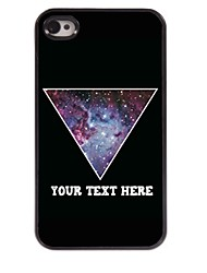 Personalized Phone Case - Purple Triangle Design Metal Case for iPhone 4/4S