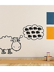 Wall Stickers Wall Decals, Home Decoration Sheep Quotes Mural PVC Wall Stickers
