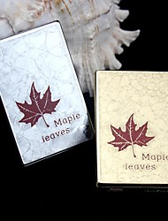 Personalized  Gift Metal Maple Leaf Pattern Electronic Lighter