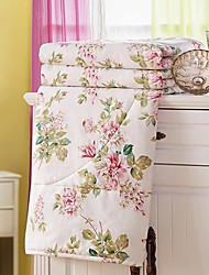 SenSleep® Comfortable Thin Floral 100% Polyester Quilt 1pc Full Size
