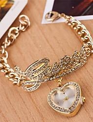 Damen Modeuhr Quartz Legierung Band Heart Shape Silber / Gold Marke-