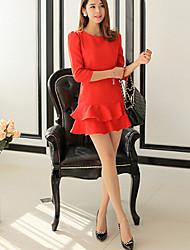 Mica Women's Elegant Ruffle Dress