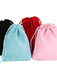 Rectangle-Shaped Velvet Gift Bags (1Pc)(4 Colors)