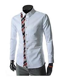 johnny col montant de la mode à manches longues Tee-shirts pour hommes