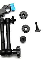 """11 """"Zoll artikulieren magischen Arm w / 1/4"""" Schraube und Mini 1/4 Gewinde Aluminiumlegierung 15 mm Stangenklemmhalter für Kamera"""