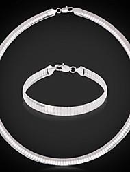 U7® New 316L Titanium Steel Chain Jewelry Set Men 8MM 48CM 19inches