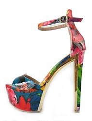 sapatos femininos peep toe robusto sandálias de salto sapatos mais cores disponíveis