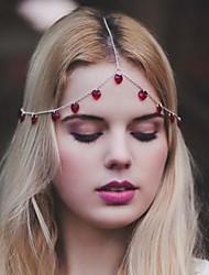 beauté glands de mode bijoux de cheveux en alliage multicolore (1pc) (rouge, noir)
