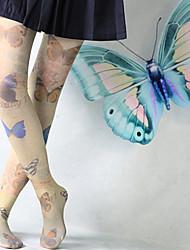 vívido padrão de borboleta de veludo meias lolita doce