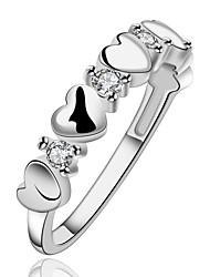 lady rétro anneau de coeur de la personnalité de la mode en argent 925
