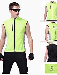 wolfbike winddicht fietsen vest windscherm windvest gilet jas groen