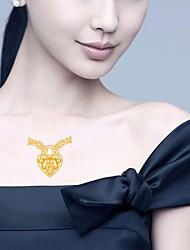 2 Pcs Waterproof Gold Glitter Arabic Heart-Shaped Pendant Tattoo Stickers