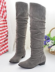 Women's Shoes Round Toe Low Heel Over The Knee Boots with More Colors available