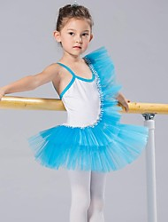 Kids' Dancewear Tops / Tutus / Dresses / Skirts Children's Cotton / Spandex / Tulle Ballet Sleeveless