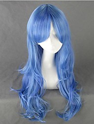 Lunar Princess Len Blue Curly Cosplay Wig
