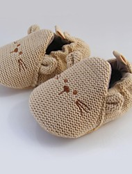 Baby Shoes-Sportivo-Mocassini-Cotone / Materiali personalizzati-Marrone
