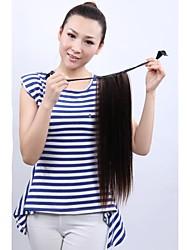 longa reta castanha cabelo rabo de cavalo natural vívida e elegante