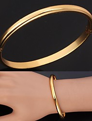 U7® Excellent Craft Mirror Polish 18K Gold Plated Cuff Bracelets Christmas Gifts
