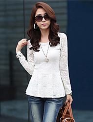 ER Women's Lace Slim Thin Thickening Plus Velvet Bottoming Shirt