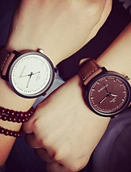 Couple's  Women's Watch Circular Quartz Fashion Belt Men's Watch(Assorted Colors) Cool Watches Unique Watches