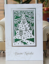 plegadas tarjetas de Navidad