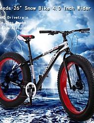 """8 vitesses bicicleta montanha OBK ™ 26 """"* 4.0 pouces élargir pneus montagne bicicletas terrain bicicleta neige graisse bicyclette"""