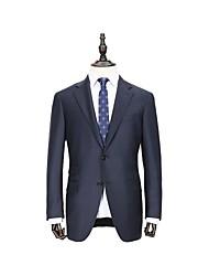 marine solide adapté veste de costume en laine ajustement