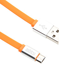 95см Micro USB алюминиевый лапши кабель для HTC / Xiaomi / Huawei (зеленый, белый, оранжевый, черный, синий)