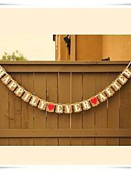 décoration de mariage heureux pour toujours kraft bannière bruant photo déco lieu prop