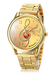 Women's Musical Note Pattern Gold Steel Band Quartz Wrist Watch (Assorted Colors) Cool Watches Unique Watches Fashion Watch