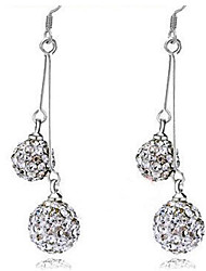 Aimei Women's 925 Silver Fashion Tassels Rhinestone Earrings
