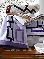 SenSleep® 3pcs Hand Towels Pack, Geometric Design 100% Cotton Hand Towel