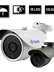 YanSe® 1000TVL 6mm Metal aluminum D/N CCTV Camera IR 36 LED Security Waterproof Wired F278CF