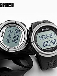 SKMEI Unisex LCD Multifunctional Digital Pedometer 3D Rubber Strap Sports Wrist Watch