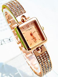 Women's Quartz Alloy Band Gold
