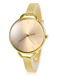 Women's Gold Round Dial Alloy Band Quartz Wrist Watch Cool Watches Unique Watches