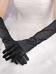 désigne les gants de cérémonie mélanine de satin de surface de la plaque
