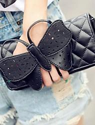 Women's Personality Bowknot One Shoulder Aslant Handbags
