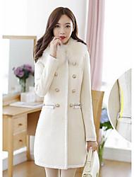 Taylor Women'S Korean Tweed Bodycon Trench Coat
