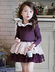 Mode-Blumenkleider Mädchens schöne Prinzessin t-shirts + skirts 2015 neu kommen Kleider