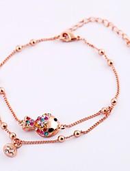 Women's Fashion Bracelet Cubic Zirconia/Alloy/18K Gold Plated Crystal