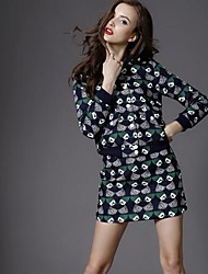 Women's Fashion Sweet Print Cotton Suits (Coat and Skirt) (More Colors)
