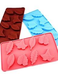 8 trous de moules à chocolat gâteau de forme de la feuille de glace gelée, silicone 21,5 x 12 x 2,3 cm (8,5 × 4,8 × 1.0inch)