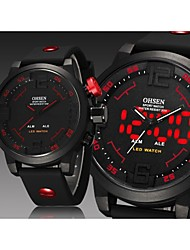 OHSEN® Man's  Digital LED Calendar Alarm Water Resistant Fashion Men's Sports Diver Outdoor Quartz Silicone Strap Watch Cool Watch Unique Watch