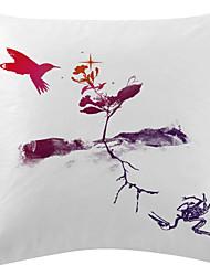 twopages® voando veludo pássaro cobertura decorativa travesseiro