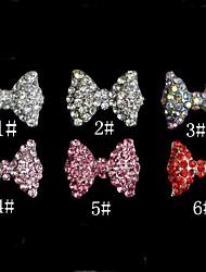 5pcs bowknot decorações de arte metal nomes (padrão sortidas)