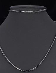 U7® Cute Black Box Chains Aluminium Alloy Necklace Bracelet Sets Jewelry For Men Women 55CM