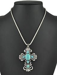 Collar (Aleación , Azul) - Turquesa