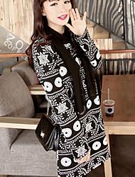 vestido de patrón geométrico moda mica de las mujeres