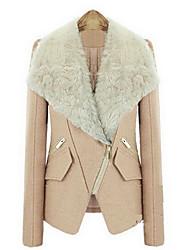 nova linho fino casaco tipo short feminino clemente